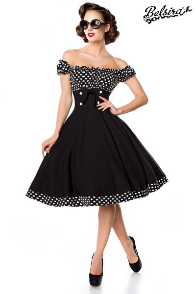 Swing-Kleid schulterfrei