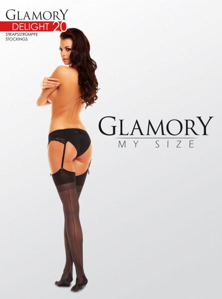 Glamory Delight 20 Strapsstrümpfe mit Naht