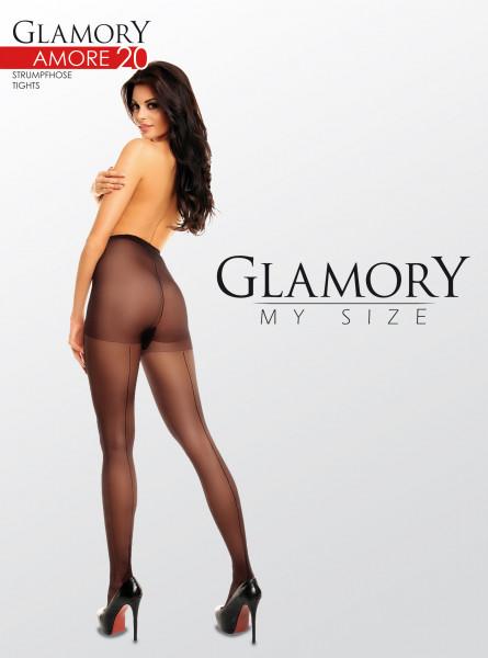 Glamory Amore 20 Nahtstrumpfhose schwarz