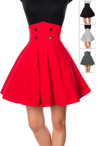 High Waist Mini Swing-Rock